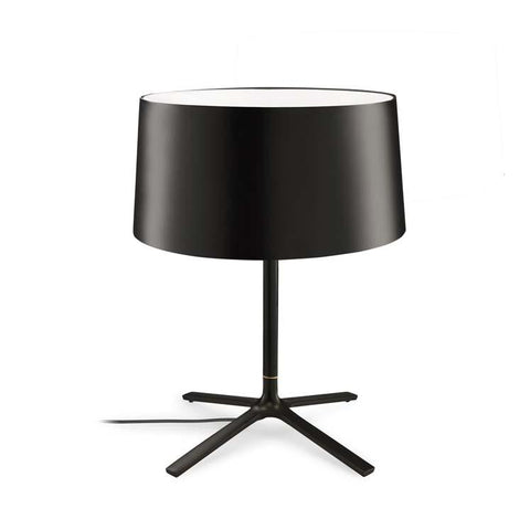 Belmont Black Table Lamp With Fabric Shade & Diffuser - ID 8128