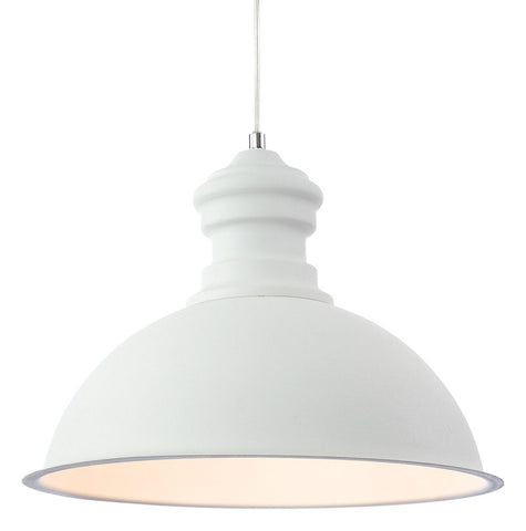 Aztec Rough Sand White Single Pendant - London Lighting