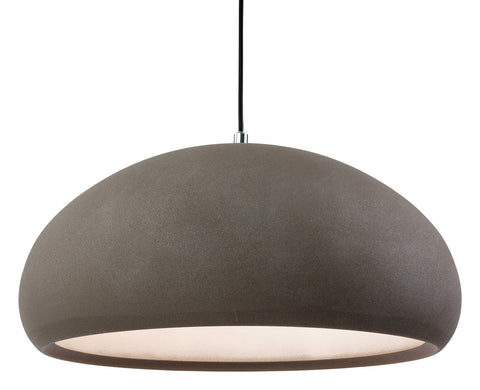 Costa Rough Sand Concrete Single Pendant - London Lighting