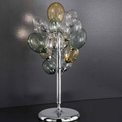 Ballon Bespoke Italian 3 Lamp Table Light with Blown Glass - Colour Options