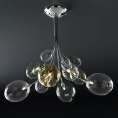 Ballon Bespoke Italian Flowing 8 Lamp Semi-Flush with Blown Glass - Colour Options