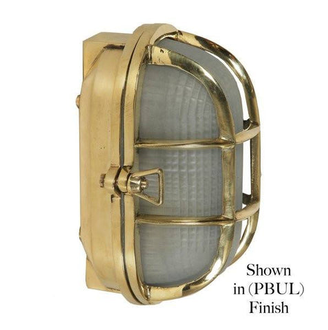 Classic Reproductions Oval Ships Bulkhead Light (Small) - London Lighting - 1
