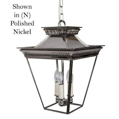 Classic Reproductions Pagoda 3 light Pendant (Medium) - London Lighting - 1