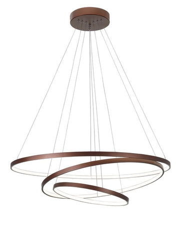 Coffee Brown Aluminium & Acrylic Adjustable Dimmable Hoop Light - ID 9278