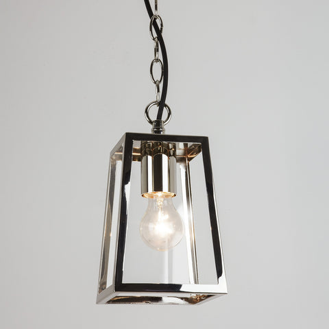 Calvi Polished Nickel Outdoor Pendant - London Lighting - 1