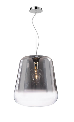 Verio Gradient Smoked Glass & Chrome Medium Pendant 33cm - ID 9336