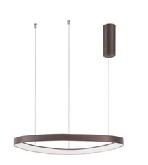 EST Dimmable Coffee Brown Aluminium & Acrylic Inner Ring Pendant - ID 10215