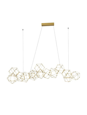 NEB Gold Wire Mesh LED Geometric Globule Pendant Large - ID 10061