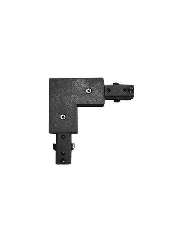 Surbiton Black Aluminium Right Angle Track Rail Connector - ID 8717