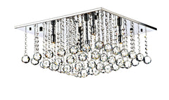Abacus Chrome 5 Lamp Ceiling Light - London Lighting - 1
