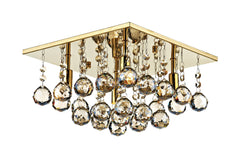 Abacus Gold 4 Lamp Ceiling Light - London Lighting - 1