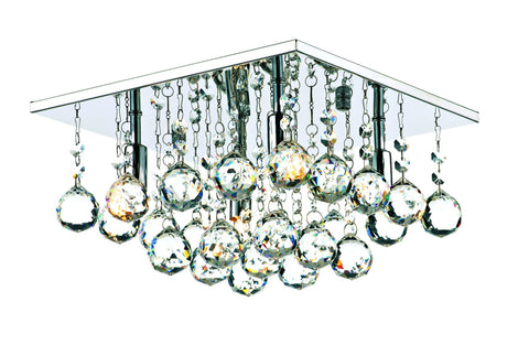 Abacus Chrome 4 Lamp Ceiling Light - London Lighting - 1