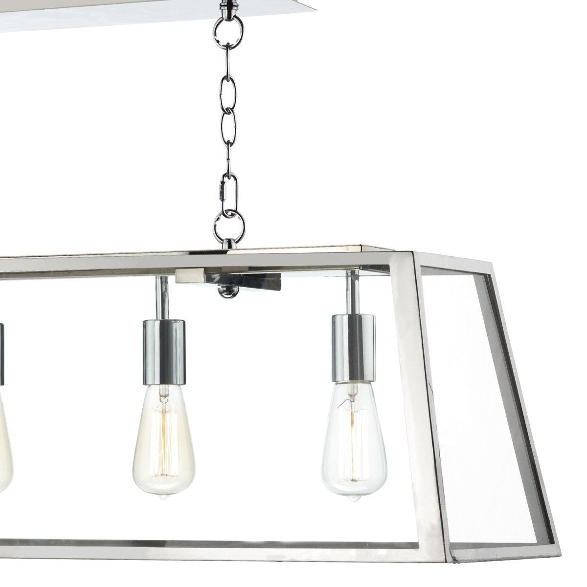 Polished chrome and glass 5 lamp box lantern id 5875 london lighting academy stainless steel 5 lights pendant light london lighting 3 aloadofball Gallery