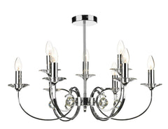 Allegra Antique Brass 9 Lamp Ceiling Light - London Lighting - 1