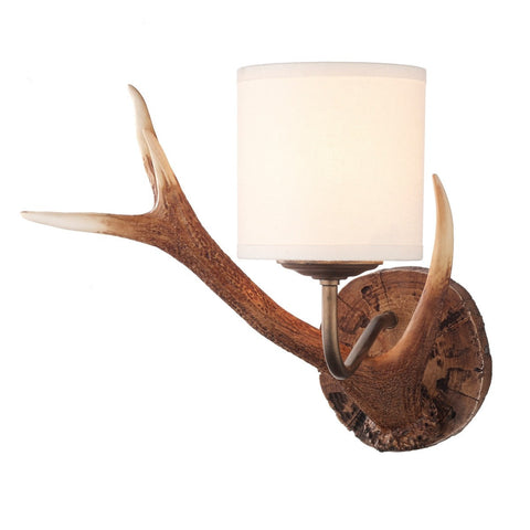 Antler Rustic Small Wall Light - London Lighting - 1