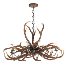 Antler Emperor Rustic 8 Lights Pendant Light - London Lighting - 1