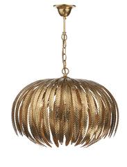 Atticus Gold Leaf Style Suspension - London Lighting - 1