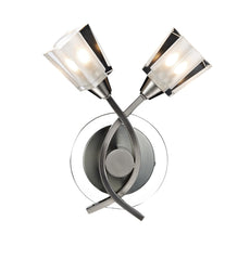 Austin Satin Chrome Double Arm Wall Light - London Lighting