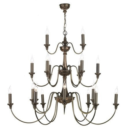 Bailey Rich Bronze 21 Lights Pendant Light - London Lighting - 1