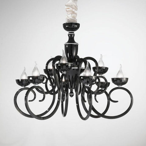 Baroque 9 Light Murano Glass Chandelier