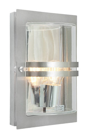Basel Stainless Steel Outdoor Wall Light - London Lighting - 1
