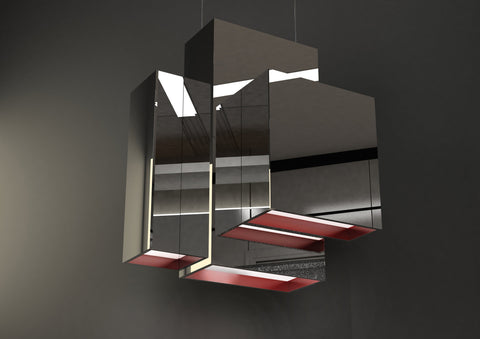 Quasar Blox Suspension Pendant In Polished Stainless Steel  - ID 8995
