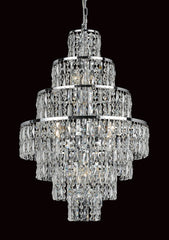Grove Seven Tiered 8 Light Cascading Crystal Chandelier In Polished Chrome - ID 8112