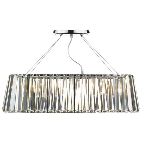 Cecilia Polished Chrome 3 Lights Pendant Light - London Lighting - 1