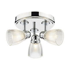 Cedric Polished Nickel 3 Lights Round Plate Spot - London Lighting - 1
