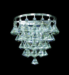 1 Lamp Flush Crystal & Chrome Ceiling Light - ID 2230