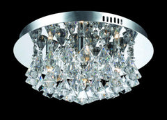 4 Lamp Flush Crystal & Chrome Ceiling Light - ID 2073