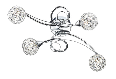 Circa Chrome 4 Lamp Ceiling Light - London Lighting - 1