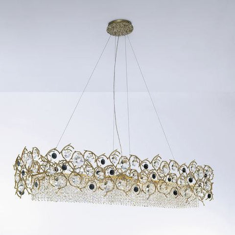Serip Diamante 8 Lamp Bespoke Chandelier - London Lighting - 1