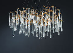 Serip Aqua 15 Lamp Organic Bespoke Chandelier - London Lighting - 1