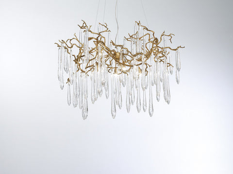 Serip Aqua 8 Lamp Organic Bespoke Chandelier - London Lighting - 1