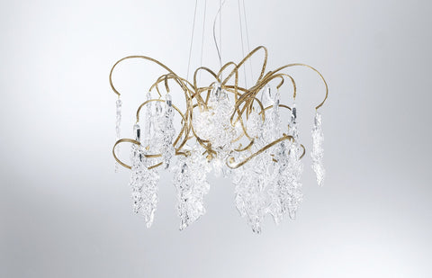 Serip Lines 12 Organic Lamp Bespoke Chandelier - London Lighting - 1