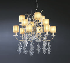 Serip Lines 12 Lamp Bespoke Chandelier - London Lighting - 1