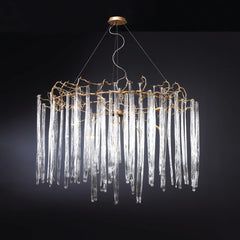 Serip Waterfall 13 Lamp Round Bespoke Chandelier - London Lighting - 1