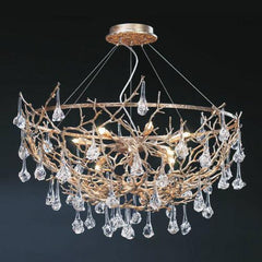 Serip Coral 12 Lamp Demilune Bespoke Chandelier - London Lighting - 1