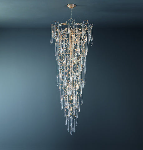 Serip Aqua 22 Lamp Bespoke Chandelier - London Lighting - 1