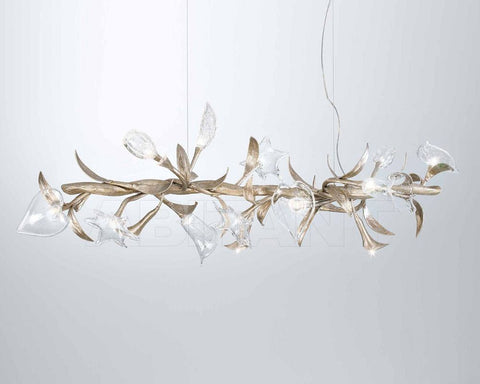 Serip Bouquet 15 Silver Bespoke Chandelier - London Lighting - 1