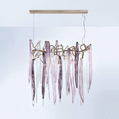 Serip Waterfall 7 Lamp Bespoke Chandelier - London Lighting - 1