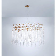 Serip Waterfall 19 Lamp Oval Bespoke Chandelier - London Lighting - 1