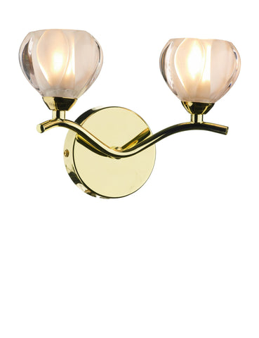Cynthia Polished Brass Wall Light - London Lighting - 1