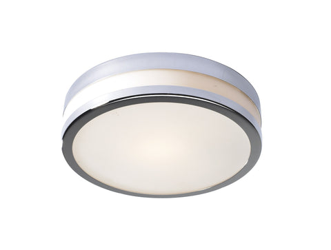 Cyro Chrome Bathroom Ceiling Light 29cm - London Lighting - 1