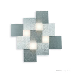 Grossmann CREO Four Lamp Square Ceiling Light - Colour Options