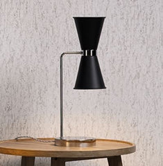 Hyde Brass and Black Double Table Light - ID 10126