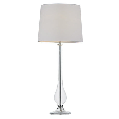 Dillon Clear Glass Table Lamp - London Lighting - 1