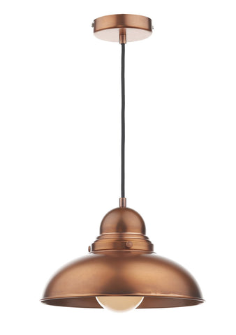 Dynamo Antique Copper Suspended Ceiling Light - London Lighting - 1