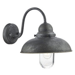 Dynamo Aged Iron 1 Light Wall Bracket - London Lighting - 1